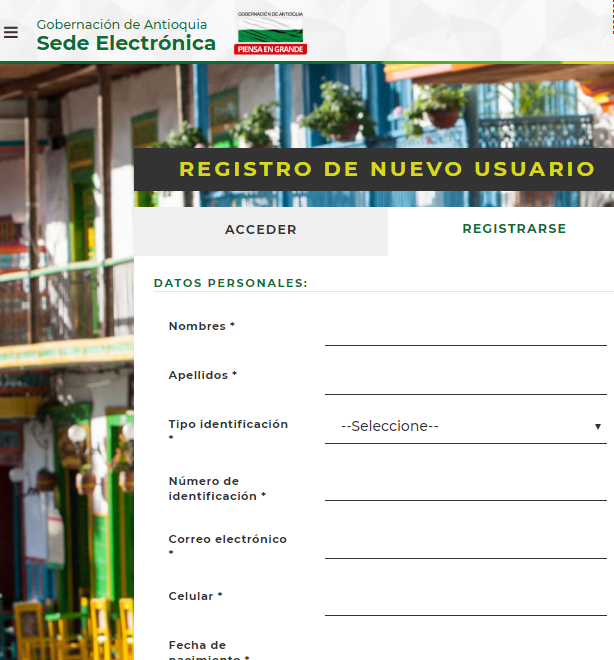 Registro Usuario